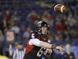 Jordan Lynch #6 of the Northern Illinois Huskies throws the ball against the Utah State Aggies during the San Diego County Credit Union Poinsettia Bowl on December 26, 2013