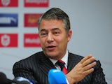 Cardiff City chairman Mehmet Dalman speaks to the press during the unveiling of new manager Ole Gunnar Solskjaer at Cardiff City Stadium on January 2, 2014