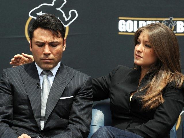 Oscar de la Hoya announces his retirement from boxing alongside his wife on April 14, 2009.