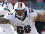 Richie Incognito of the Miami Dolphins defends against the Buffalo Bills on December 23, 2012