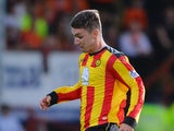 Ross Forbes of Partick Thistle in action during the Scottish Premiership League match between Partick Thistle and Dundee United at Firhill Stadium on August 02, 2013