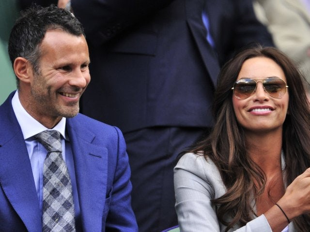Ryan Giggs and his wife Stacey attend Wimbledon on June 30, 2012.