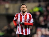 Sunderland's Steven Fletcher during the Barclays Premier League match between Sunderland and Stoke City at Stadium of Light on January 29, 2014