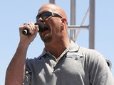 WWE wrestler 'Stone Cold' Steve Austin, gives the command for drivers to start their engines prior to the NASCAR Nextel Cup Series Samsung 500 on April 15, 2007