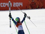 Ted Ligety of the USA wins the gold medal during the Alpine Skiing Men's Giant Slalom at the Sochi 2014 Winter Olympic Games at Rosa Khutor Alpine Centre on February 19, 2014