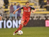 Terry Dunfield #23 of Toronto FC controls the ball against the Columbus Crew on October 28, 2012