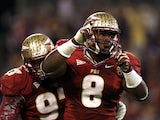 Timmy Jernigan #8 of the Florida State Seminoles reacts after a sack against the Georgia Tech Yellow Jackets during the 2012 ACC Championship game at Bank of America Stadium on December 1, 2012
