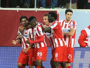 Olympiacos leading against Man Utd