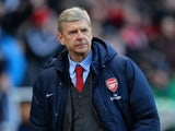 Arsenal Manager Arsene Wenger walks off at the end of the Barclays Pemier League match between Stoke City and Arsenal at the Britannia Stadium on March 1, 2014