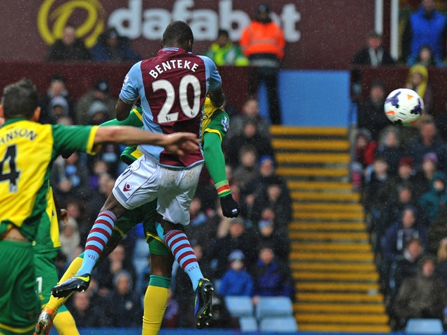 Result: Benteke double gives Villa win