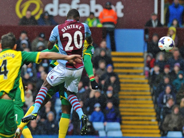 Result: Benteke double gives Villa win