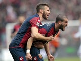 Stefano Sturaro of Genoa CFC celebrates after scoring a goal during the Serie A match between Genoa CFC and Calcio Catania at Stadio Luigi Ferraris on March 2, 2014