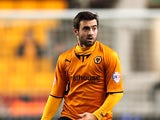 Jack Price of Wolves runs with the ball during the FA Cup First Round Replay match between Wolverhampton Wanderers and Oldham Athletic at Molineux on November 19, 2013