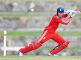 Joe Root of England bats during the tour match between University of West Indies Vice Chancellor's XI and England XI at Sir Viv Richards Cricket Ground on February 25, 2014