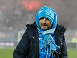 Zenith head coach Luciano Spalletti looks on during his team's Russian Football League Championship match against Ural Sverdlovsk Oblast on December 6, 2013
