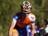 Matti Breschel of Denmark and the Rabobank Cycling Team climbs the Kemmelberg during the 74th edition of the Gent - Wevelgem one day cycle race on March 25, 2012