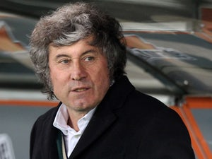 US Sassuolo Calcio head coach Alberto Malesani looks on during the Serie A match between SS Lazio and US Sassuolo Calcio at Stadio Olimpico on February 23, 2014