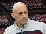 Head coach of Livorno Domenico Di Carlo during the Serie A match between Calcio Catania and AS Livorno Calcio at Stadio Angelo Massimino on February 2, 2014
