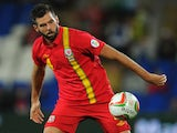 Wales player Joe Ledley in action during the FIFA 2014 World Cup Qualifier Group A match between Wales and Serbia at Cardiff City Stadium on September 10, 2013
