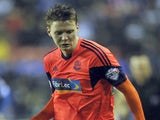 Joe Mason of Bolton Wanderers during the Sky Bet Championship match between Wigan Athletic and Bolton Wanderers at the DW Stadium on December 15, 2013
