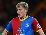 Jonathan Parr of Crystal Palace in action during the Barclays Premier League match between Crystal Palace and Manchester United at Selhurst Park on February 22, 2014