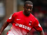 Kevin Lisbie of Leyton Orient attacks during the Sky Bet League One match between Leyton Orient and MK Dons at The Matchroom Stadium on October 12, 2013