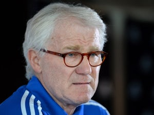 Denmark's football team manager Morten Olsen attends a press conference at Wembley Stadium in London on March 4, 2014