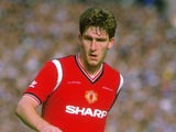 Norman Whiteside in action for Manchester United against Everton on May 18, 1985.