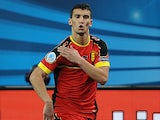 Omar Rahou of Belgium celebrates his goal during the Futsal Euro 2014 match between Belgium and Romania at Lotto Arena on January 28, 2014