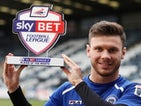 Rochdale striker Scott Hogan with his February Player of the Month award on March 6, 2014
