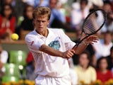 Stefan Edberg in action at the French Open on May 28, 1990.