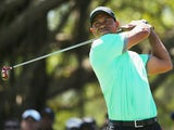 Tiger Woods at the fifth hole during the third round of the World Golf Championships-Cadillac Championship on March 8, 2014