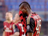 Mario Balotelli of AC Milan looks dejected during the Serie A match between AC Milan and Parma FC at San Siro Stadium on March 16, 2014