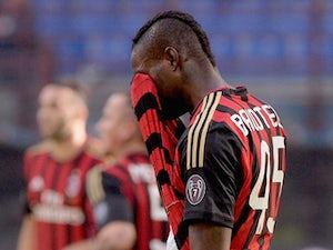 Team News: Mario Balotelli to start for AC Milan