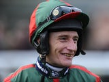 Daryl Jacob poses at Fontwell racecourse on February 23, 2014