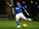 Chesterfield's Gary Roberts in action against Fleetwood Town during the Johnstone's Paint Northern Area Final Second Leg match on February 18, 2014