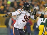 Julius Peppers #90 of the Chicago Bears rushes against the Green Bay Packers at Lambeau Field on November 4, 2013