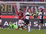 Antonio Cassano of Parma FC #99 celebrates scoring the second goal during the Serie A match between AC Milan and Parma FC at San Siro Stadium on March 16, 2014