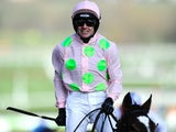 Ruby Walsh celebrates winning at the Cheltenham Festival on March 11, 2014.