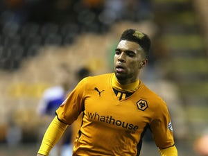 Scott Golbourne of Wolves looks on during the FA Cup First Round Replay match between Wolverhampton Wanderers and Oldham Athletic at Molineux on November 19, 2013
