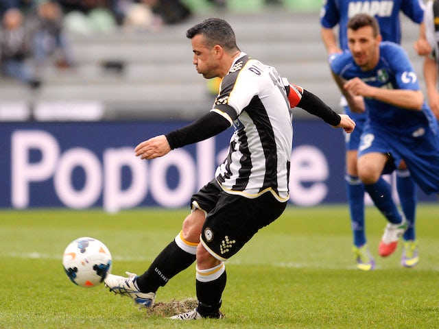 Result: Udinese edge past Sassuolo