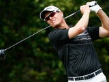 John Senden of Australia hits a tee shot on the 5th hole during the final round of the Valspar Championship at Innisbrook Resort and Golf Club on March 16, 2014