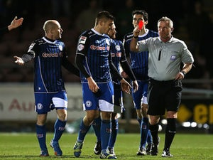 Lund gives Rochdale half-time lead