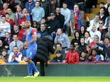 Jose Mourinho the Chelsea manager argues with a Crystal Palace ball boy during the Barclays Premier League match between Crystal Palace and Chelsea at Selhurst Park on March 29, 2014