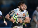 Chris Whitehead of Exeter Chiefs in action during the LV= Cup match between Worcester Warriors and Exeter Chiefs at the Sixways Stadium on February 1, 2014