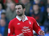 Danny Higginbotham in action for Nottingham Forest on February 25, 2012.