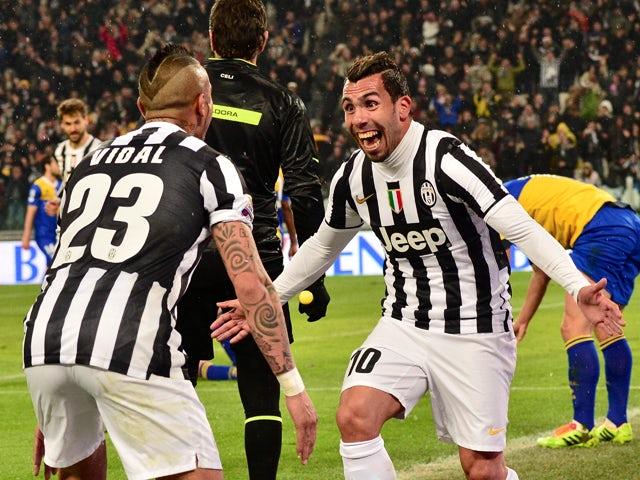 Result Carlos Tevez Brace Helps Juventus Beat Parma