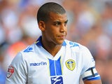 Lee Peltier of Leeds in action during the Sky Bet Championship match between Leeds United and Brighton & Hove Albion at Elland Road on August 03, 2013