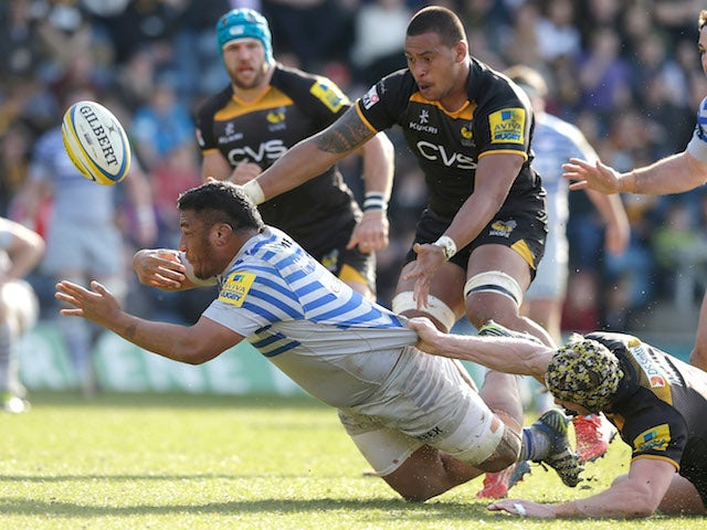 Mako Vinupola of Saracens in action during the Aviva Premiership match between London Wasps and Saracens at Adams Park on March 29, 2014