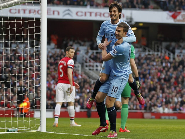 Image result for arsenal 0-2 man city edin dzeko